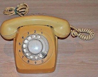 Vintage telephone. USSR