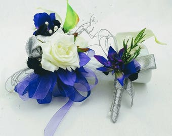 Prom corsage and boutonniere set