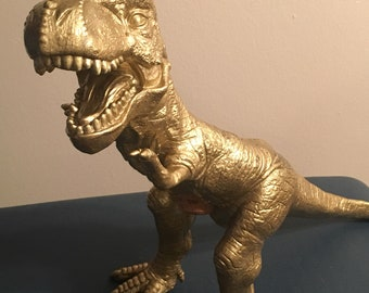 Giant Gold Dinosaur/ T-Rex Bank