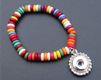 New!   Children's Environmental Nature Stone Seubeutzy Beads -  Add Your Own 12mm Interchangeable Snap - Taking Orders Now