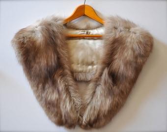 Vintage Fox Fur Detachable Collar