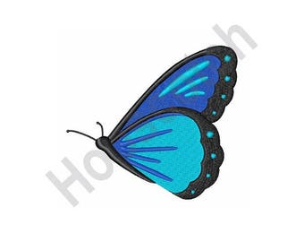 Blue Morpho Butterfly - Machine Embroidery Design - 4 X 4 Hoop, Bug, Insect, Summer
