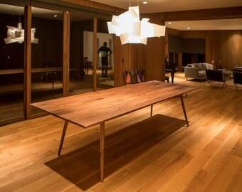 "MCM Style 10'x42"" Hardwood Dining Table"
