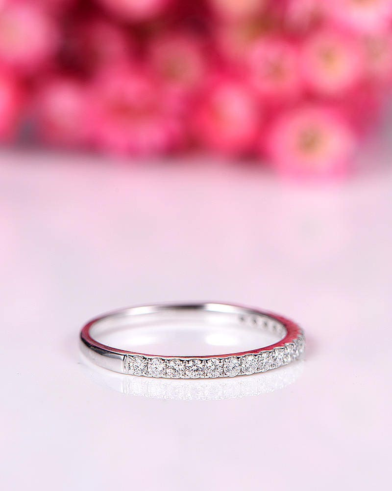 Diamond wedding diamond engagement ring half eternity ring stacking ...
