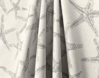 Gray Curtains Nautical Starfish Home Decor Window Treatments Beach House  Decor Custom Drapery Bedroom Bathroom Kitchen