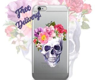 FREE SHIPPING Skull Phone Case iPhone 7/7+/6/6S/6+/6S+65/SE, Galaxy S8/8+/7/7Edge/6/6Edge/5/Note5/J7Prime, Huawei P8/8PLite2016/P9/P9Lite