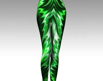Emerald Leggings, Green Leggings, Premium Leggings, Activewear, Yoga Leggings, Luxury Leggings, Compression Fit, Cosplay Leggings, Festival