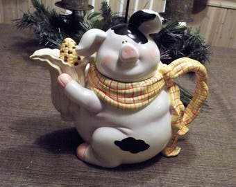 Rare Pig Pie Character Collectables *-* COUNTRY PIG *-* Teapot