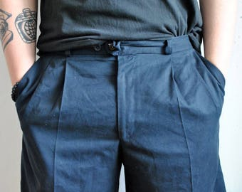 VIntage shorts 1990s 1980s casual dark blue weekend cotton shorts