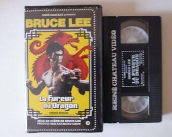 rare VHS Bruce Lee René chateau la fureur du dragon