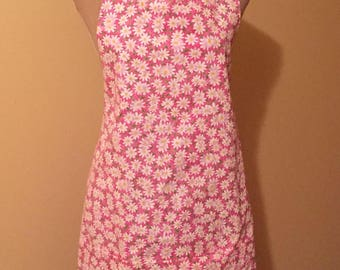 Pink Daisies Lined Apron