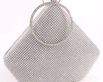 Vintage Hollywood Crystal  Wristlet Evening Bag