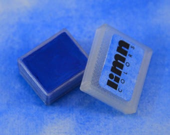 Cobalt Blue Watercolor Paint -- Handmade Watercolour in 3d Printed Half Pan -- Primary Blue for Painting, Illustration, and Brush Lettering