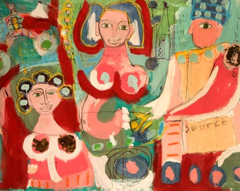 Art Brut Colorful Painting