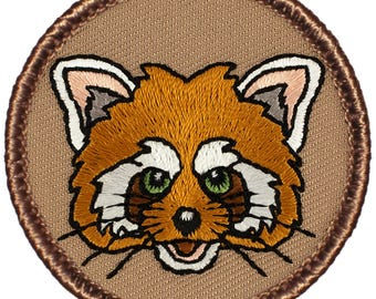 Red Panda Patch (833) 2 Inch Diameter Embroidered Patch