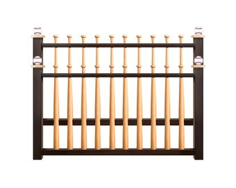 Queen Sized Baseball Headboard