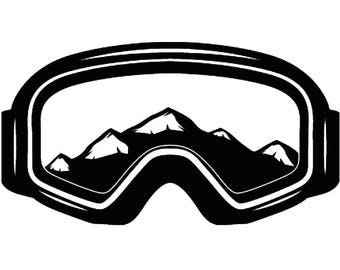 Snow Skiing Goggles #1 Equipment Snowboarding Mask Skier Ski Winter Extreme Sport .SVG .EPS .PNG Clipart Vector Cricut Cut Cutting Download