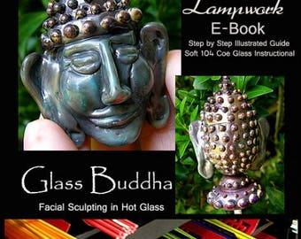 Lampwork Tutorial Glass Buddha Bead or Topper Intermediate eBook PDF Instructional step by step