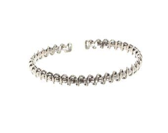 Sterling Silver Twisted Wrap Heavy Bangle