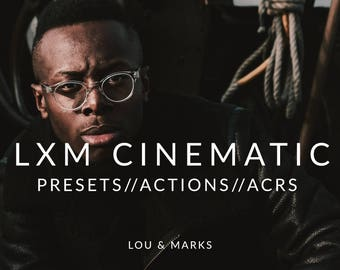 Cinematic Lightroom Presets & Photoshop Actions, ACRs for Moody Portrait and Modern Wedding Edits in Adobe Lightroom Photoshop