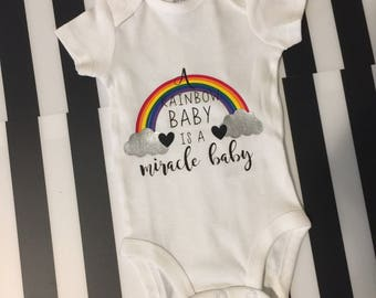 Rainbow Baby is a Miracle Baby Onesie **free shipping**