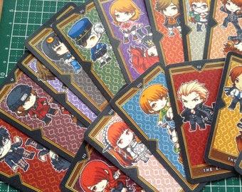 Persona Tarot Card Deck, Persona Arcana Cards, Persona 3, Persona 4, Persona 5, Game Tarot Cards, Tarot Deck, Anime Tarot Cards