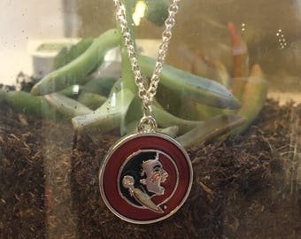 Florida State University jewelry, Seminoles necklace, college necklace, college jewelry