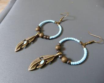 BO Creole feathers & beads