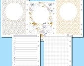 Personal WIDE Rings Size: UNDATED DAILY Grid Printable Insert for Ring Bound Planners