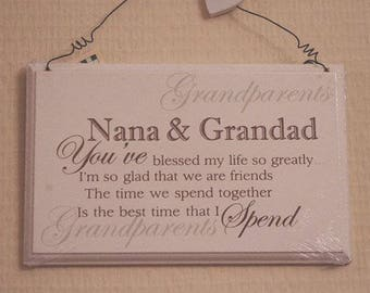 Nana And Grandad You've Blessed My Life So Greatly Birthday Sign Plaque F0847K