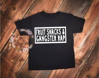Gangster Rap Toddler Tee//rap humor shirt//unisex toddler tee//Fruit Snacks toddler tee