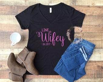 Lineman Wifey Shirt//line love//lineman wife//womens black top//cotton tee