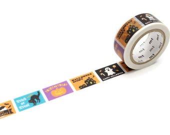 Halloween Label Washi Tape, MT Masking Tape, Halloween Stickers, Planner Accessories, Journal Supplies, Kids Halloween, Craft Supplies