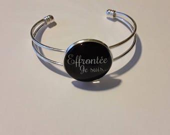 Bracelet silver metal cap 25mn cheeky