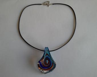 Black cord and glass pendant
