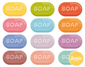 Soap Bar Clipart Illustration for Commercial Use | 0550