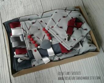 Hockey Baby Gift Set - Hockey Baby Blanket - Baby Nursery - Baby Shower Gift - Hockey Baby - Baby Gift Set - Hockey Baby Bib -Hockey Blanket