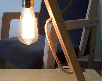 Wood lamp creative