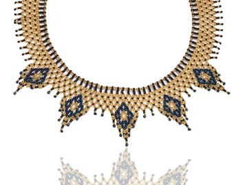 Ethnic woven seed Bead Necklace