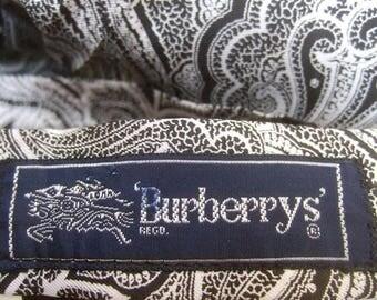 Burberrys London Paisley Silk Pleated Skirt