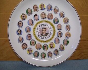 """Vintage 9"""" Nixon Presidential plate"""