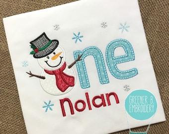 Snowman Birthday Shirt / Onederland Shirt / Wonderland Shirt / Winter Birthday / Snowman Birthday / 1st Birthday Shirt / First Birthday