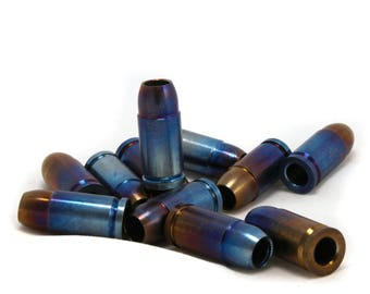 Titanium EDC Bullet Bead Knife Lanyard - Cartridge firearms - Paracord - (oxidized titan) - EDC Keychain - Knife Accessories - Worry beads