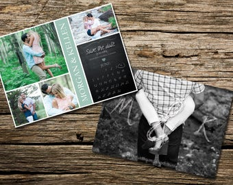 Save the Date - Engagement Photo Collage