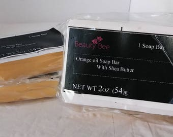 Handmade Orange oil shea butter bar soap