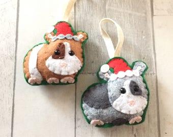 Guinea pig Christmas decorations