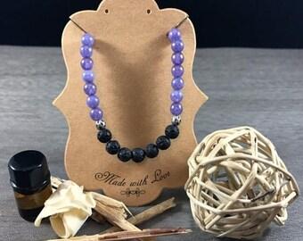 CLEARANCE Essential Oil Diffuser Bracelet | Alexandrite | Lava Rock Jewelry | Stretch Bracelet | Healing Bracelet | Gift for Her | Zen Gift