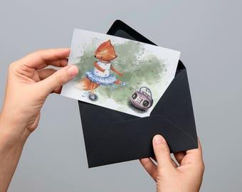 Digital postcard (gouache)