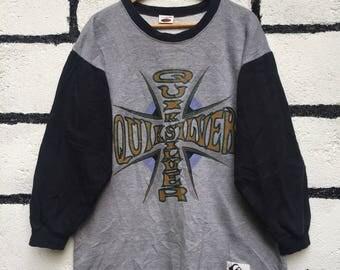 Rare Vintage Quicksilver Sweatshirt Big Logo Nice Design