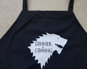 Game of Thrones Inspired Apron, Dinner is Coming Apron, Jon Snow, Tyrion Lannister, You Know Nothing, Game of Thrones Kitchen
